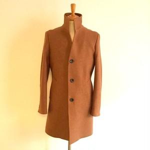 Cashmere Blended Stand Collar Coat Beige