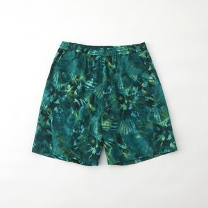 TIE DYE PRINTED STRETCHED EASY SHORT PANTS - GREEN