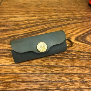Leather Keycase /Green