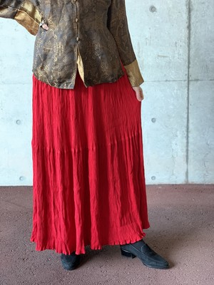 Vintage Red Tiered Skirt Made In USA