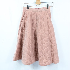 【美品】beautiful people / ビューティフルピープル   バックジップキルティングスカート   36   ピンク   レディース