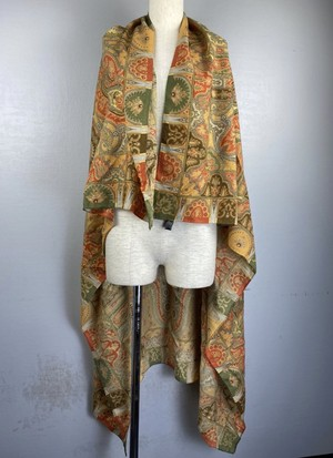 .ETRO WOOL SILK PAISLEY PATTERNED LARGE SIZE SHAWL MADE IN ITALY/エトロウールシルクペイズリー柄大判ショール(ストール) 2000000043609