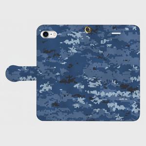 海上自衛隊デジタル迷彩手帳型スマホケース