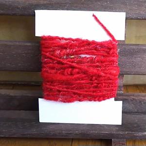 手紡ぎ糸 カードヤーン 9