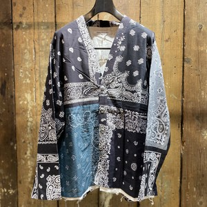 Children of the discordance / VINTAGE BANDANA PATCHWORK CONCHO JACKET / BLACK / size 2
