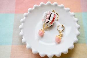 【受注生産】《FABRIC BALLOON mini  3色クリームサンド 片耳》