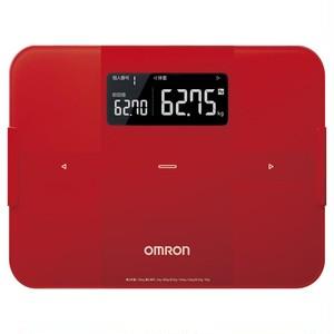 オムロン 体重体組成計  レッド HBF-255T-R