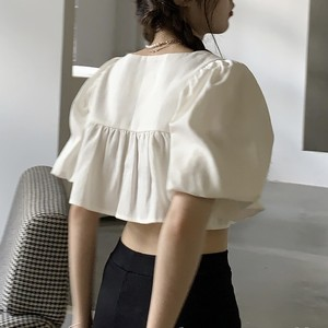 croped volume frill blouse 2c's