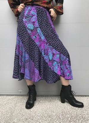 Susan freis leaf plaid skirt ( スーザンフレイス チェック柄 リーフ柄 スカート )
