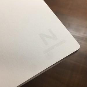 ノンブルノート「N」表紙カスタマイズ用:白(※2020マンスリー付)