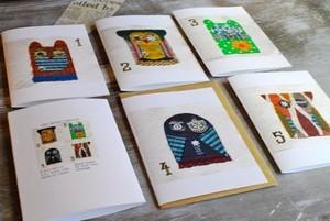 「フクロウ5兄弟」カード(5種封筒5枚つき)