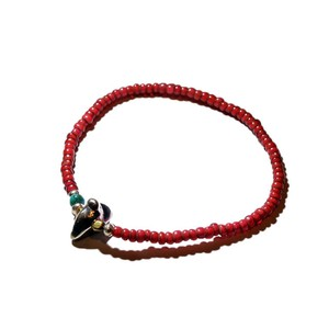SunKu/サンク Old White Heart Beads Bracelet [SK-E203
