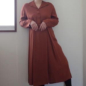 フランス 1960年代レンガ色ドレス