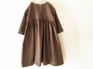 【ikko】ブラウンのヨークワンピース size:120