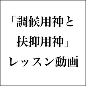 四柱推命 〜 調候用神と扶抑用神【レッスン動画】