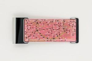 FLASH 東京回路線図 ICカードクリップ  ピンク 【名入れ無料サービス実施中】