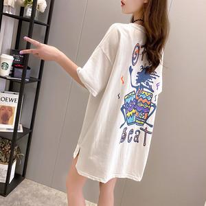 【トップス】韓国系半袖ラウンドネックプルオーバーTシャツ45436134