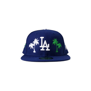 Exile World Custom New Era Los Angels Dodgers Palm Tree Fitted