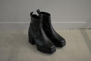 G.V.G.V. / WESTERN ANKLE BOOTS (black.M)