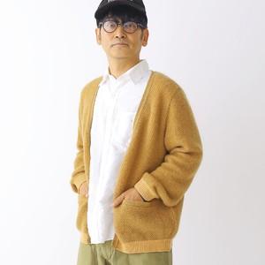420005_Combination Mohair Cardigan(レンガ)