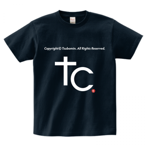 TSUBOMIN / COPYRIGHT T-SHIRT NAVY