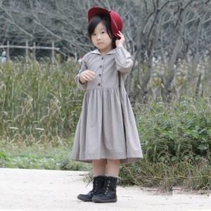 子供服・セーラーカラーワンピース(あずきミルク)《kids》