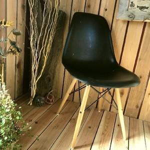 ≫DSWダイニングハイサイドチェア1脚*ウッドベース黒ブラック*おしゃれイス椅子いす*ジェネリックリプロダクトイームズチェア