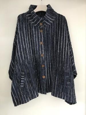 草木染 手織り上質コットンカーディガン 紺