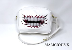 blood vampire shoulder bag / white