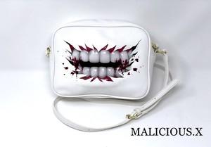 blood vampire shoulder bag / white