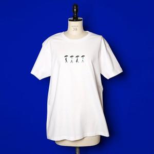 雨の4人のTシャツ(ホワイト)