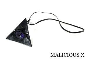 reptelis(A)eye triangle coin case / violet(crocodile)