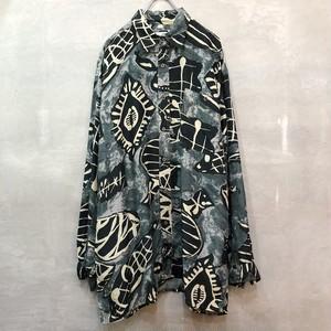 Euro Vintage design Silk shirt #2423