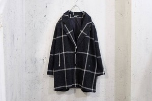 Grid and grain jacket coat