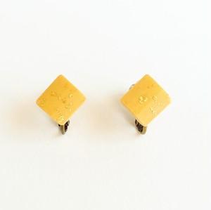 シングルリードと金箔のイヤリング  Reed  goldleaf earring #3