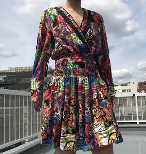 Diane freis バルーン mini dress