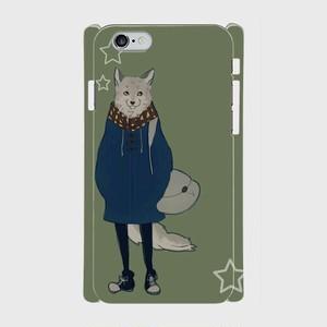#003-010 iPhone8対応 動物系・クール系《マチアワセ(狼さん)》 iPhoneケース・ スマホケース 作:黒糖からす Xperia ARROWS AQUOS