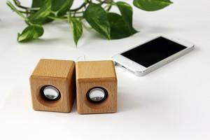 ミニウッドスピーカー/ iPhone、スマホ、タブレット用