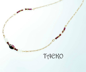 TAEKO model RED ネックレス(送料無料)