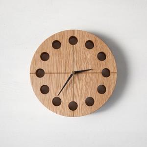 木の時計マル(Φ240) No3 | ナラ【針、選択可】