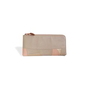 【空気の色長財布 / ピンク】薄いL字ファスナー