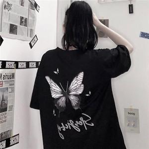 【トップス】バターフライシリーズファッション図柄プリントTシャツ31324904
