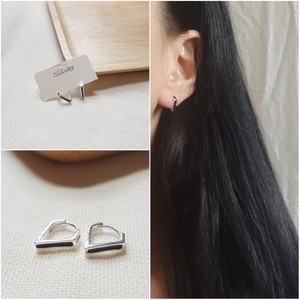 silver925 トライアングル フープピアス 個性的 人気 韓国ファッション パーティーアクセサリー オルチャン juju-p0003