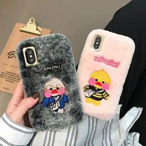 【小物】iPhone用 裏起毛カートゥーンキュートスマホケース・カバー