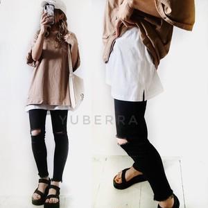 《送料無料》レイヤードインナースカート【89355LS10】インナーTシャツ