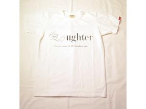 スマートスパイス・日本製 LAUGHTER PRINT TEE ホワイト