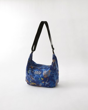 TIE DYED PRINTED SHOULDER BAG - BLUE
