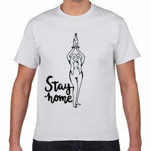 「Stay home」コロナガールTシャツ