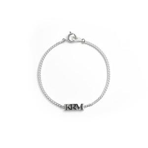 ❰ New ❱ KRM logo charm silver bracelet