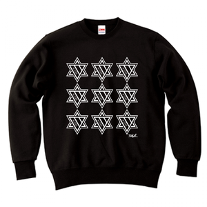 ERICH / NINTH HEXAGRAM CREWNECK SWEAT BLACK